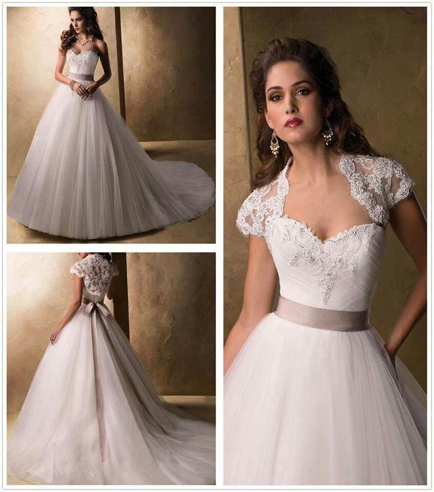 Simple elegant dk cream sash wedding dresses pinterest for Simple cream wedding dresses