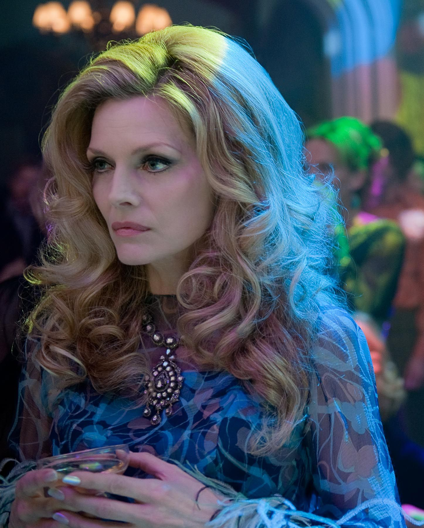 Michelle pfeiffer in Dark Shadows. Loved her hair and make up.