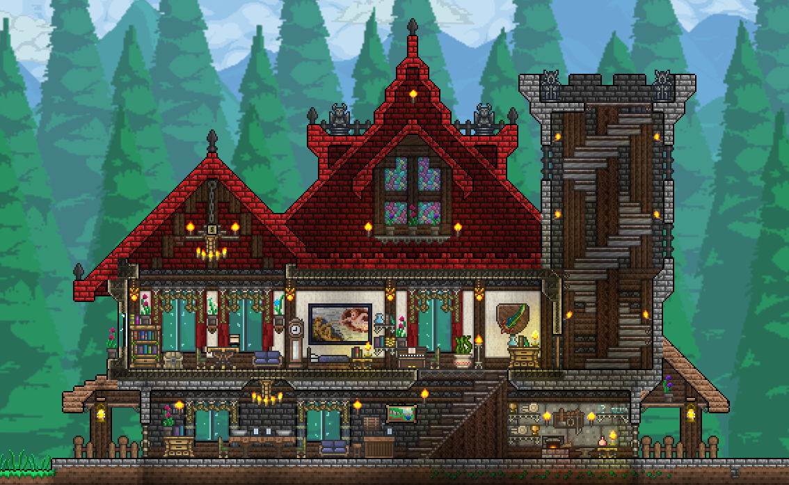 Pc Pellaeon S Creations With Images Terraria House Design
