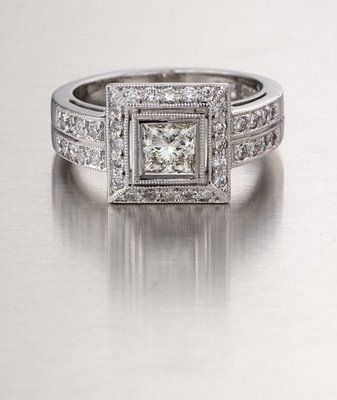 18ct White Gold Diamond Ring Exclusively Custom Made At Marius Nel