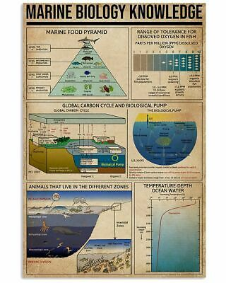 Marine Biology Knowledge Poster Perfect Wall Decor Artwork Print For Scientist #fashion #home #garden #homedcor #postersprints (ebay link)
