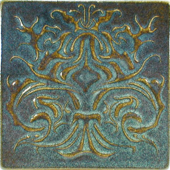 Decorative Wall Tile X Accent Tile Carved By CampbellTileworks - 6x6 accent tiles