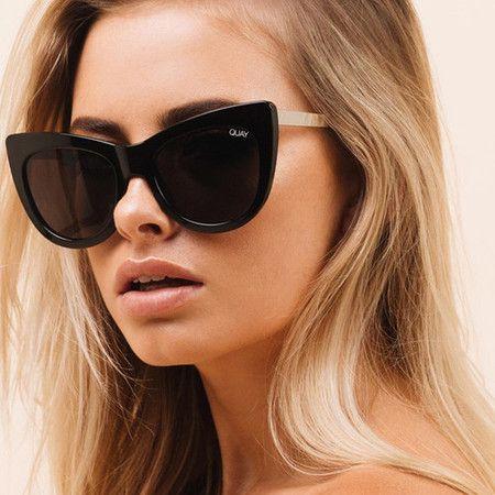 782fb6b291b Óculos QUAY Australia Steal a Kiss Black   Smoke Lens