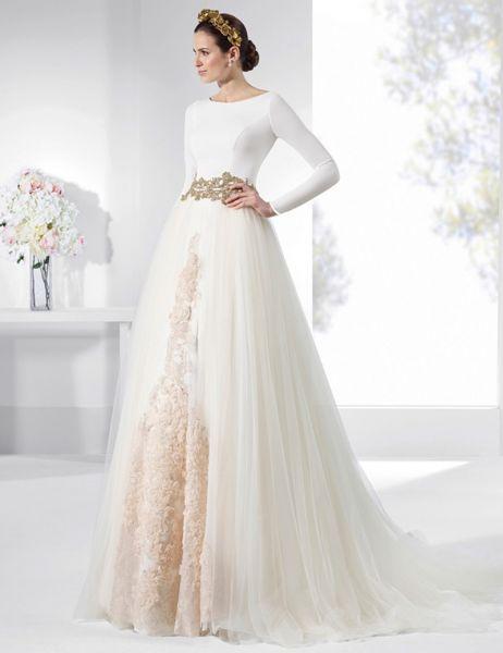vestidos y faldas plisadas para novias. ¡porque las modas siempre