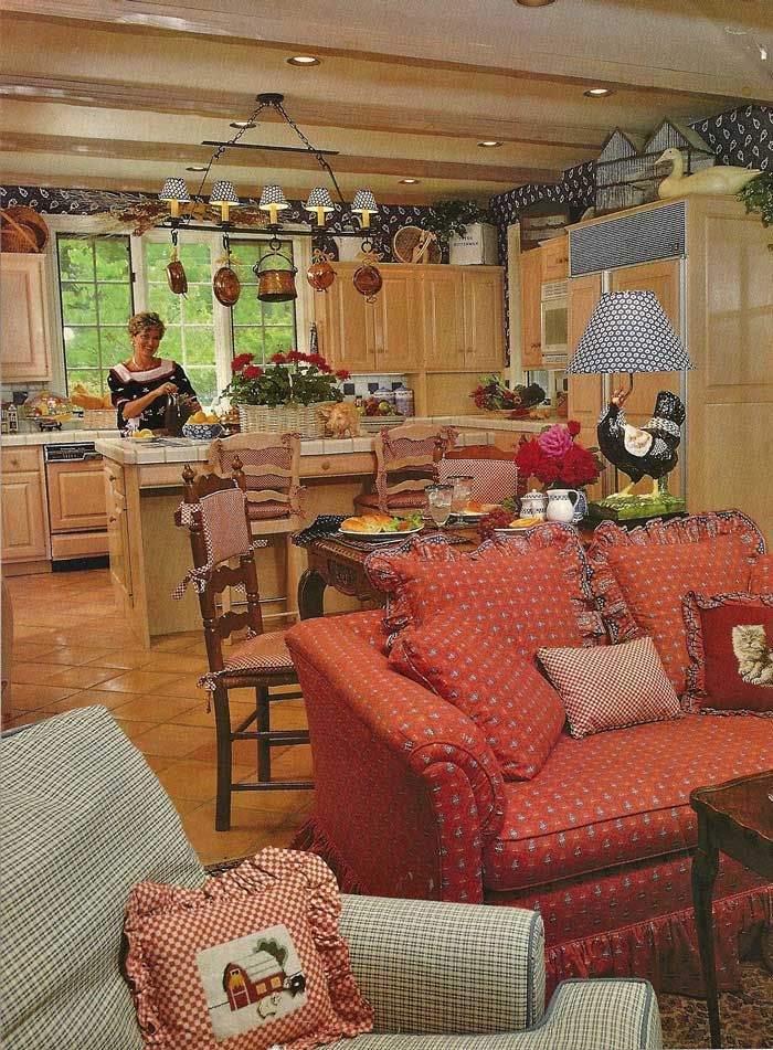 Kitchen Family Room Designs: French Country Living Room
