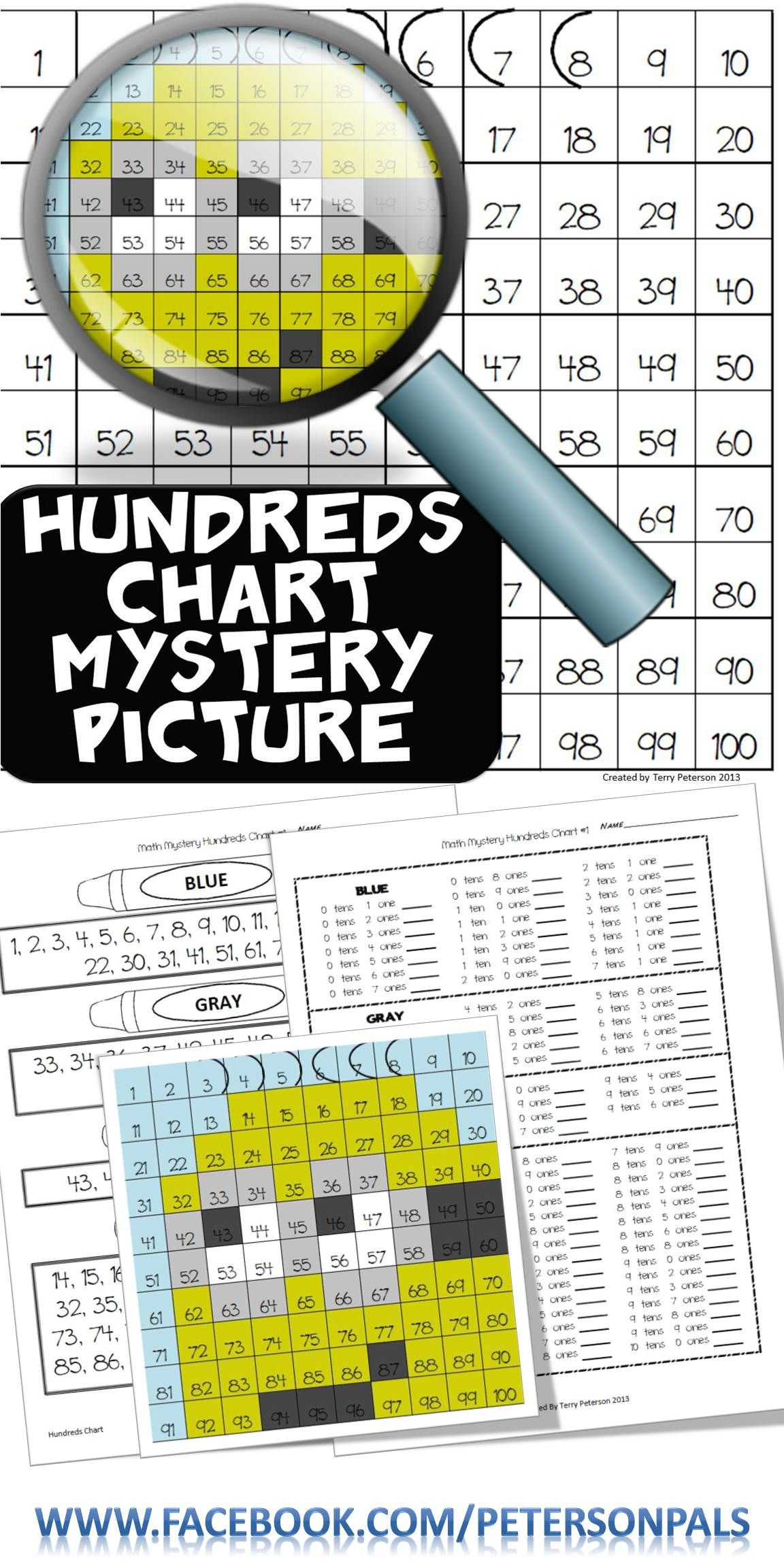 Mystery Picture Hundreds Chart Place Value Tens And Ones