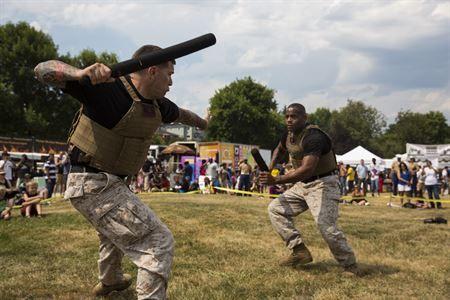 Master Sergeant Ronald Jacobs Left And SSgt Jeffery Bentley