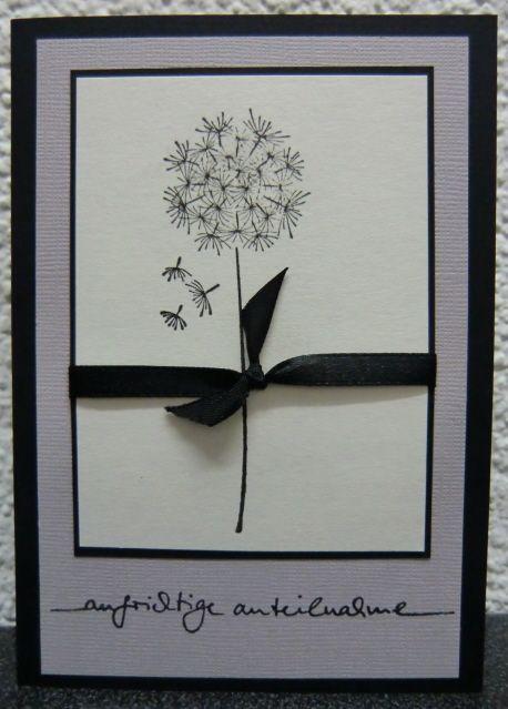 sehr sch ne trauerkarte beileidskarte cards sympathy cards cards und funeral cards. Black Bedroom Furniture Sets. Home Design Ideas