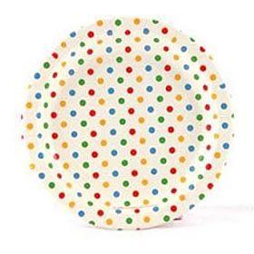 Multi-coloured polkadot paper plates The Party Table  sc 1 st  Pinterest & inviteme scrumptious stationery - plates - Rainbow Polka dot#Paper ...