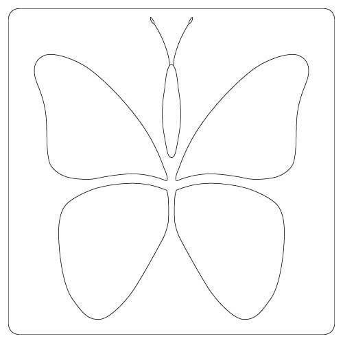 Stencil - Butterflies BUTTERFLY TEMPLATES Pinterest Butterflies and Stencils