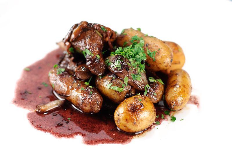 Potatoes Chanterelles Shallots & Red Wine