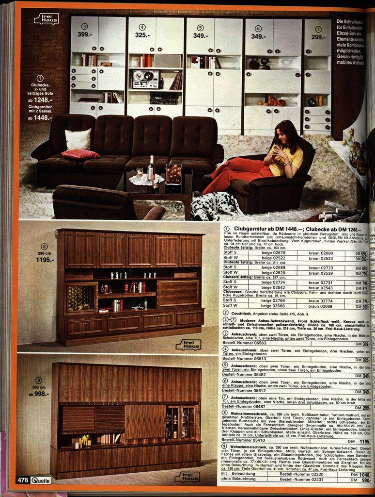 1972 quelle 476 wohnzimmer 50er 60er 70er 80er for Wohnzimmer 60er 70er