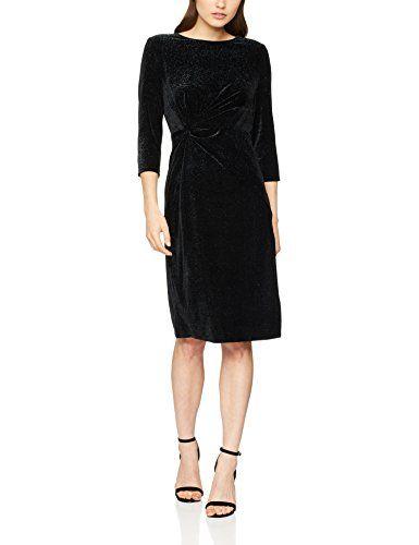 5509b3f183c9 Dorothy Perkins Petite Knot Front Bodycon Robe Femme Noir (Black 130) 42