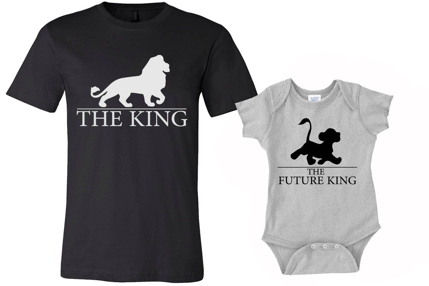 4278605e6 Set of 2 King Shirts, Dad and Son shirts, daddy shirt and baby onesies  Shirts, lion king shirts, funny tshirts, family shirts, baby onesies by  MOTIFIT on ...