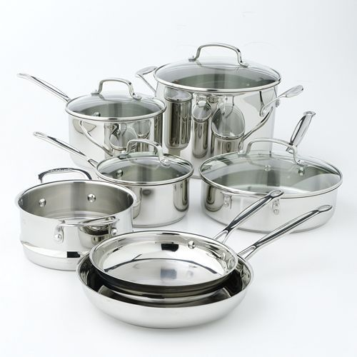 Cuisinart Chef S Classic 11 Pc Stainless Steel Cookware Set In 2021 Cookware Set Stainless Steel Cookware Cookware Set Stainless Steel Cuisinart 11 piece cookware set