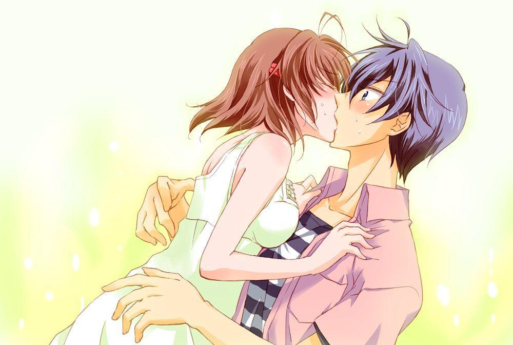 Nagisa And Tomoya Kissing 3 Clannad Clannad Anime Romanticos
