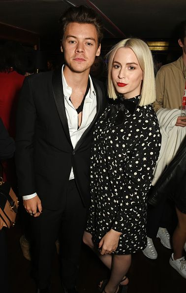 3abee56048f Harry Styles and Gemma Styles attend the Another Man A W launch event  hosted at Albert s Club on October 6
