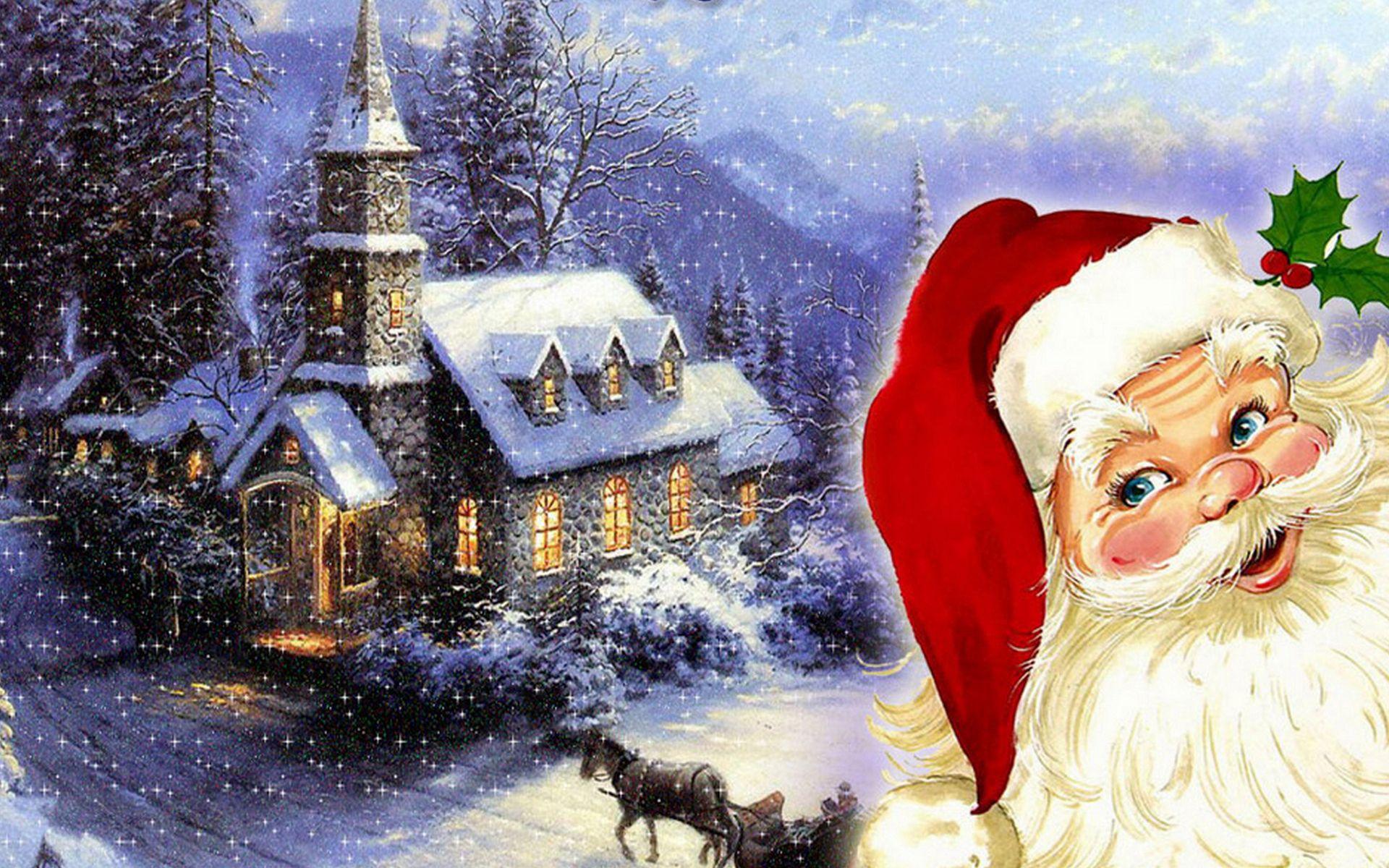 Merry Christmas Santa Claus Merry Christmas To Santa Claus Hd 2013 Wallpaper Cat Marry Christmas Wallpaper Merry Christmas Wallpaper Christmas Wallpaper Free
