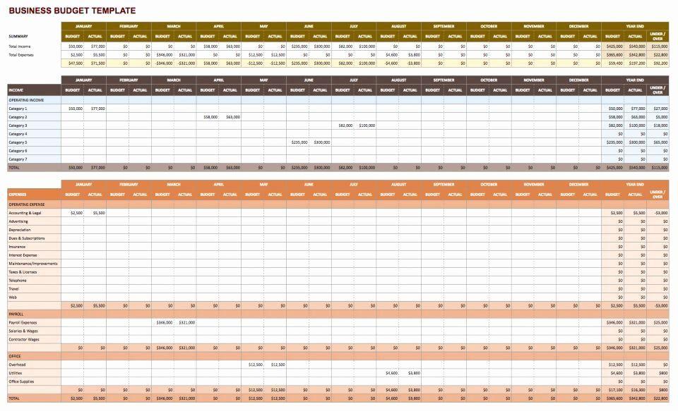 Business Budget Excel Template Unique Free Google Docs Bud