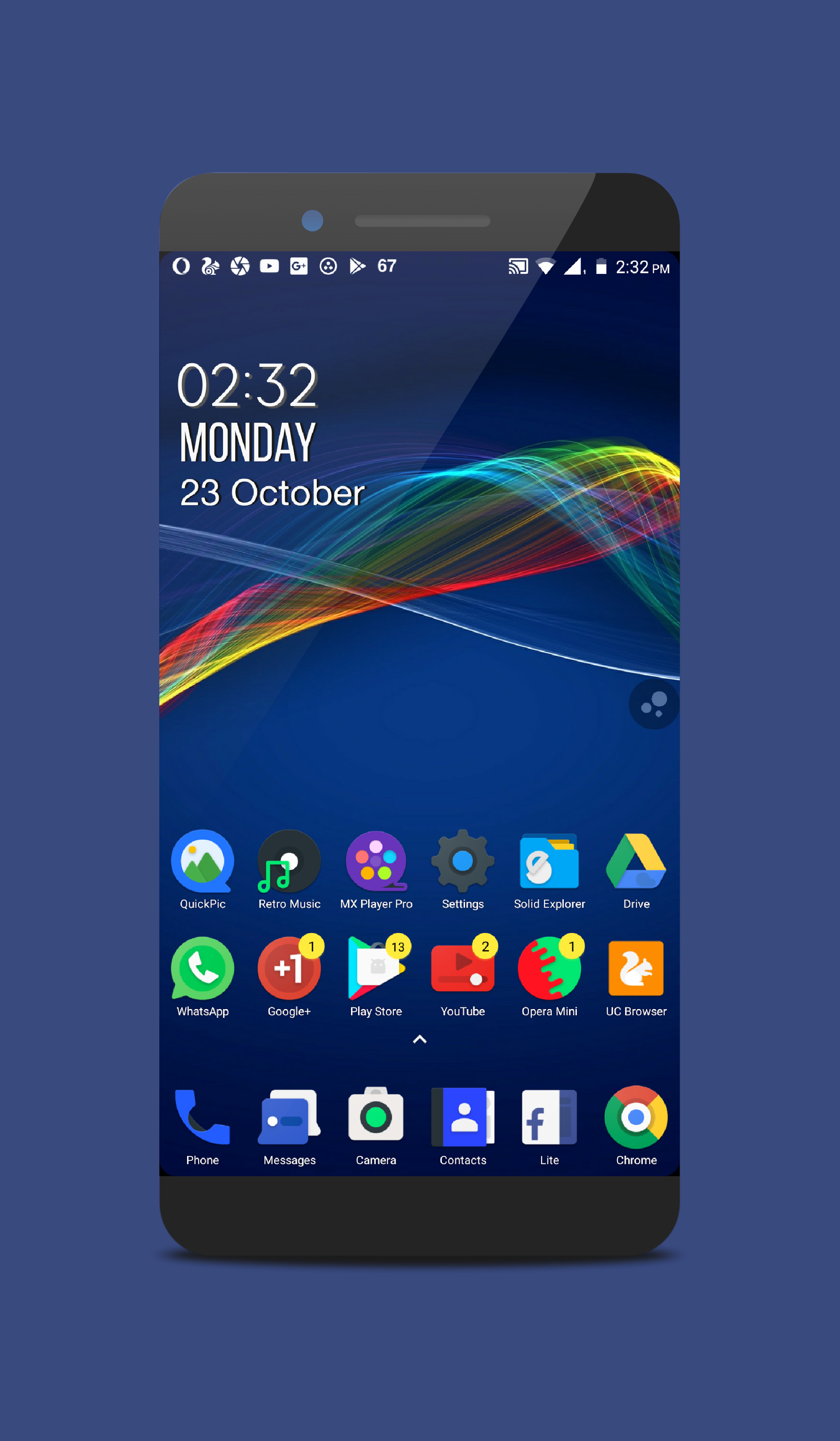 Zooper widget clock by Mee FROZY icon pack by +Fraom Design Wall by
