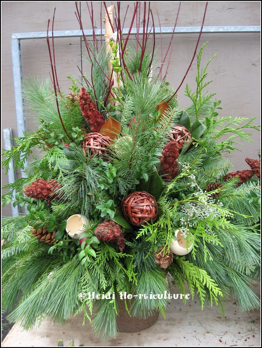 Winter Planter/Container Designs | Winter planter, Christmas urns ...