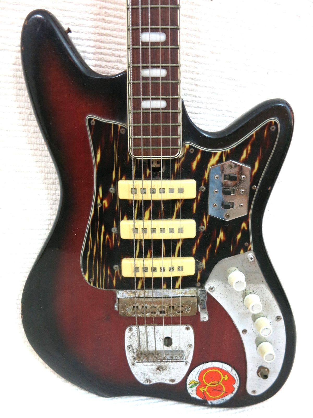 vintage 1960s teisco kawai guitar reburst version hound dog taylor lo fi rocker teisco. Black Bedroom Furniture Sets. Home Design Ideas