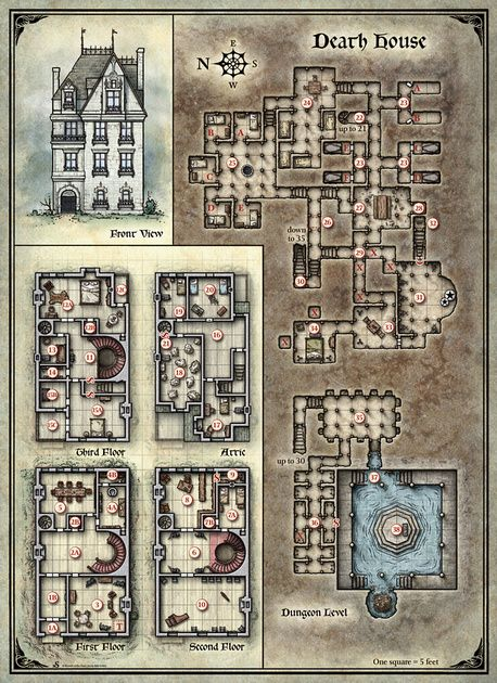 Curse Of Strahd D D Map Dungeon Maps Fantasy Map Map