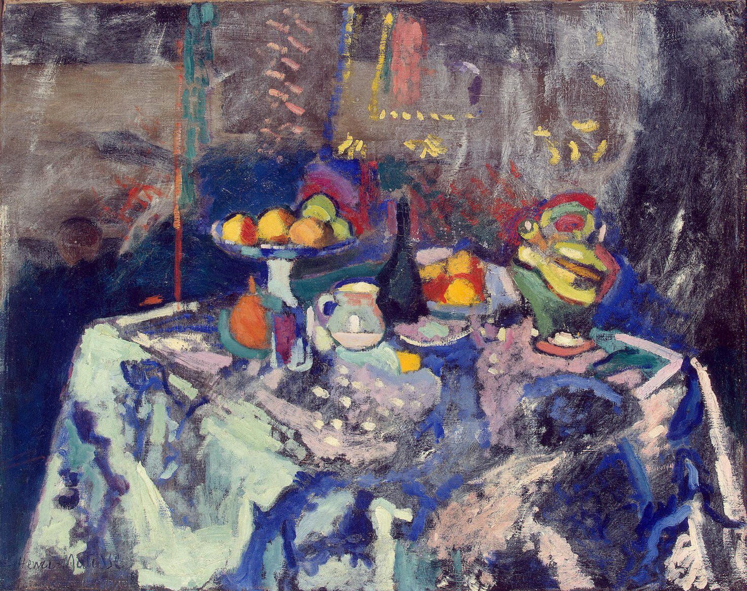 Imagem de https://upload.wikimedia.org/wikipedia/en/c/c5/Matisse_-_Vase,_Bottle_and_Fruit_(1906).jpg.
