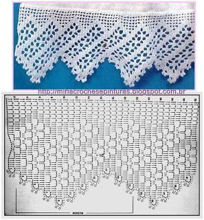 Lots of lovely crochet edgings charts at this blog. MIRIA crochets AND PAINTINGS: BARRED FROM CROCHET