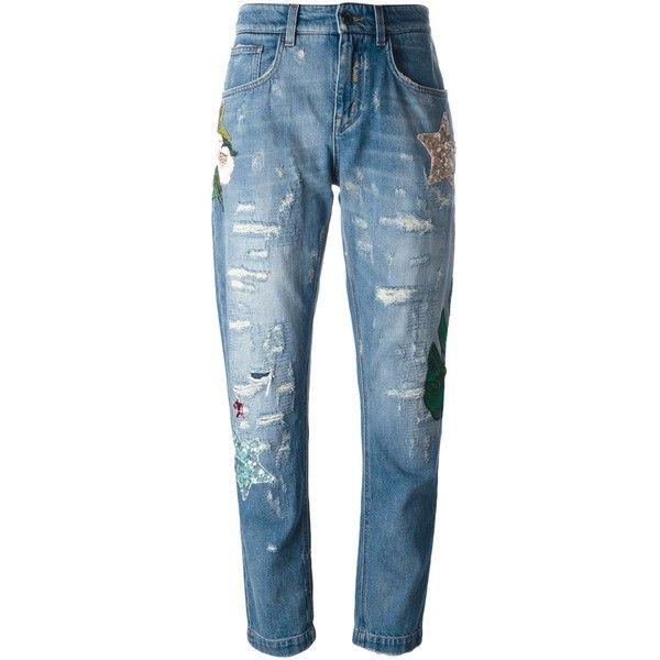 destroyed boyfriend jeans - Blue Dolce & Gabbana XIVigafJ