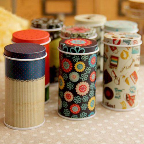 Mini-Catoon-Cylinder-Small-Iron-Roll-Memo-Note-Paper-Tea-Storage-Box-Tin-Case