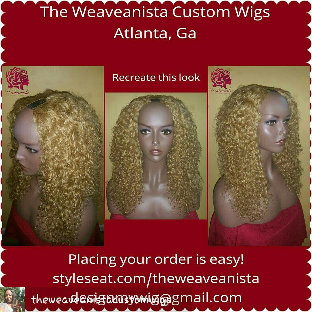 Custom U-part wig professionally designed just for you! Place your order appointment safely and securely at www.styleseat.com/theweaveanista