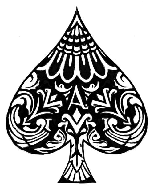 Literalchameleon Ace Of Spades Tattoo Ace Tattoo Spade Tattoo
