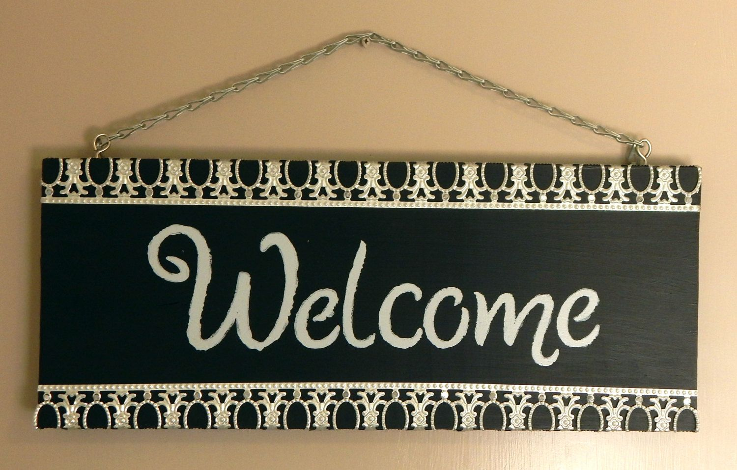 Welcome sign | wood welcome sign | home decor | front door decor ...