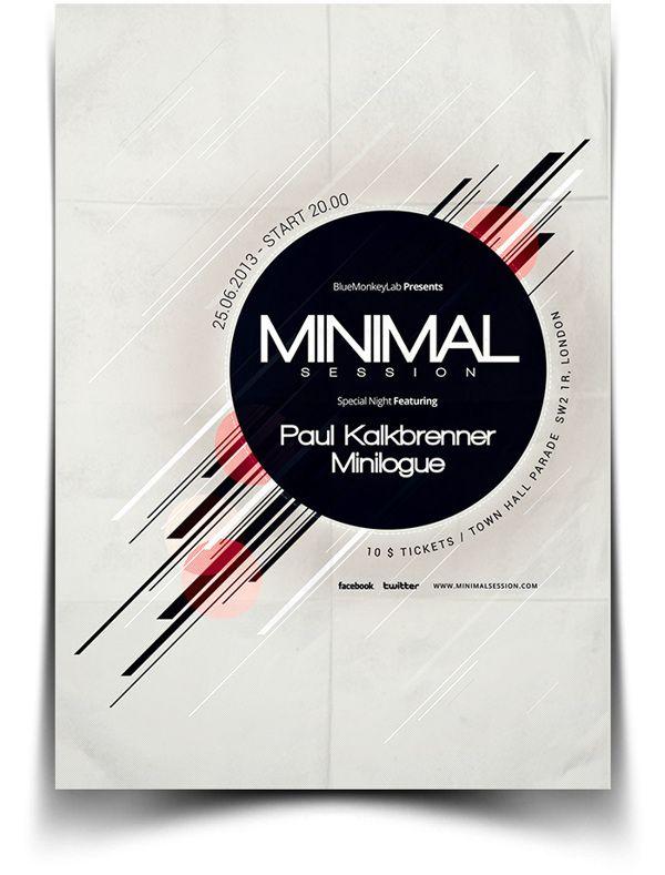 minimal flyer poster by bluemonkeylab via behance