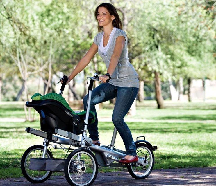 bike attachment for strollers | The Taga Hybrid Bike-Stroller Goes ...