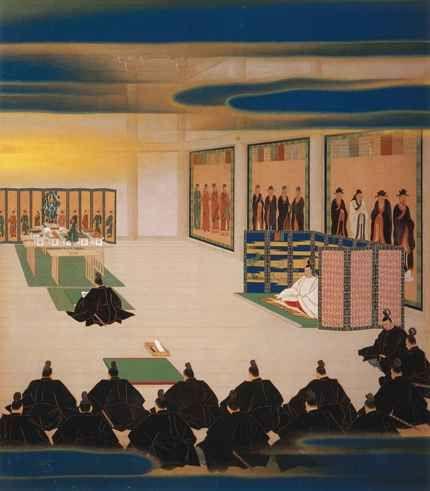 聖徳記念絵画館 壁画「五箇條御...