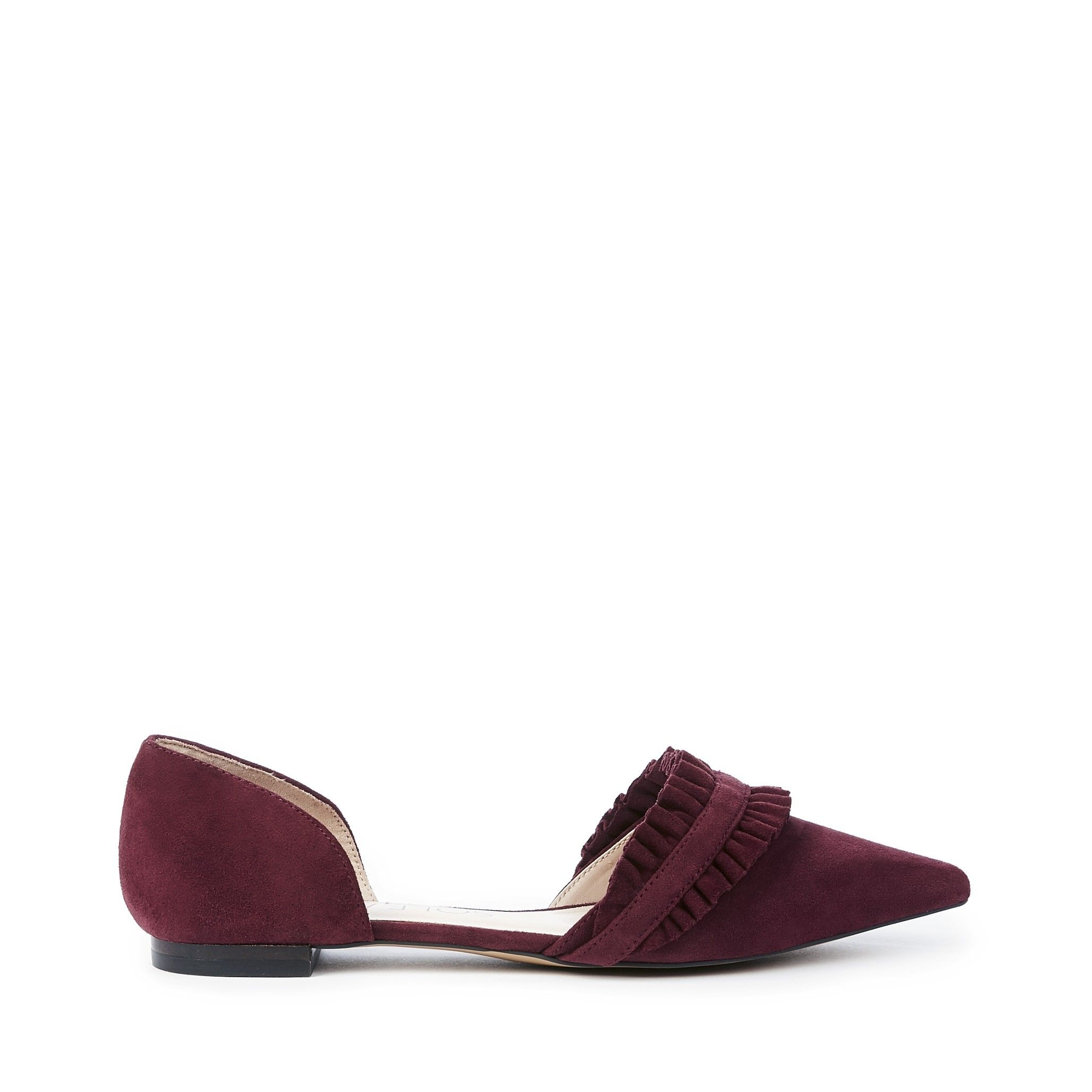 Sole Society Women's Rosalind Ruffle D'Orsay Flat nqRXJuG
