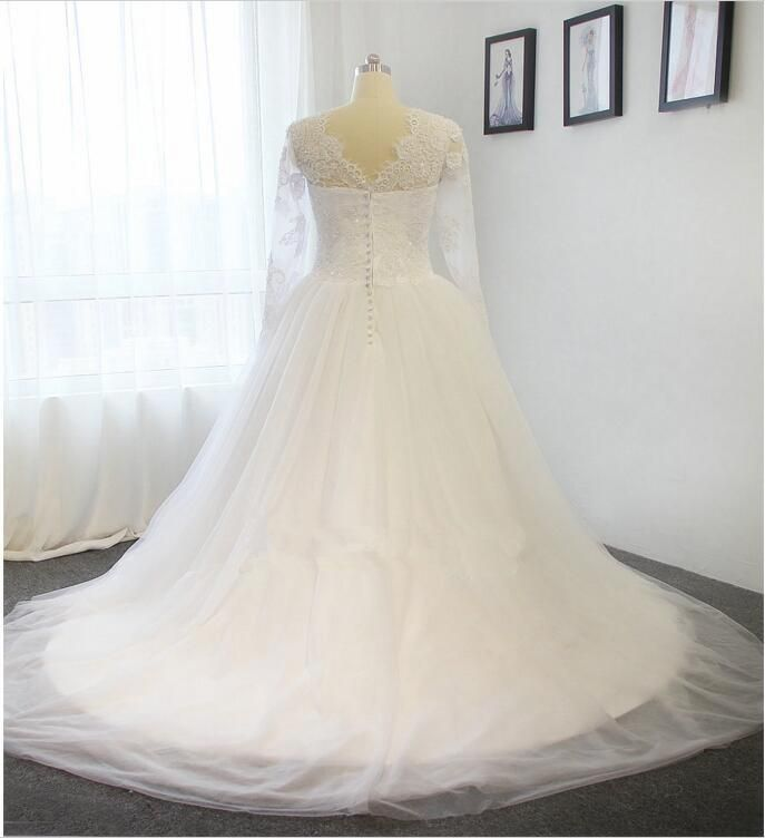 Pure white elegant lace longsleeved tutu, White tail