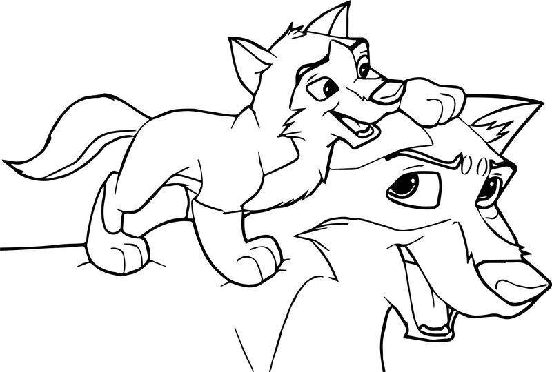 Balto Base Piggy Back Ride Wolf Coloring Page Wolf Colors Animal Coloring Pages Coloring Pages