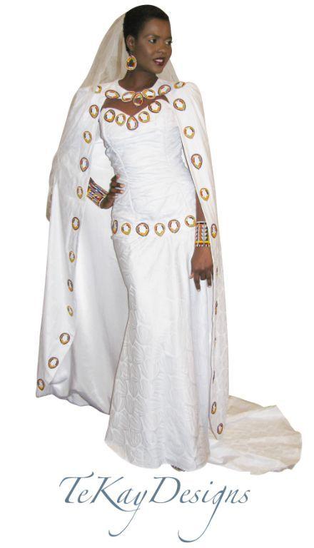 Kenyan / Maasai wedding dress and cape by TeKay Designs | Kenya ...