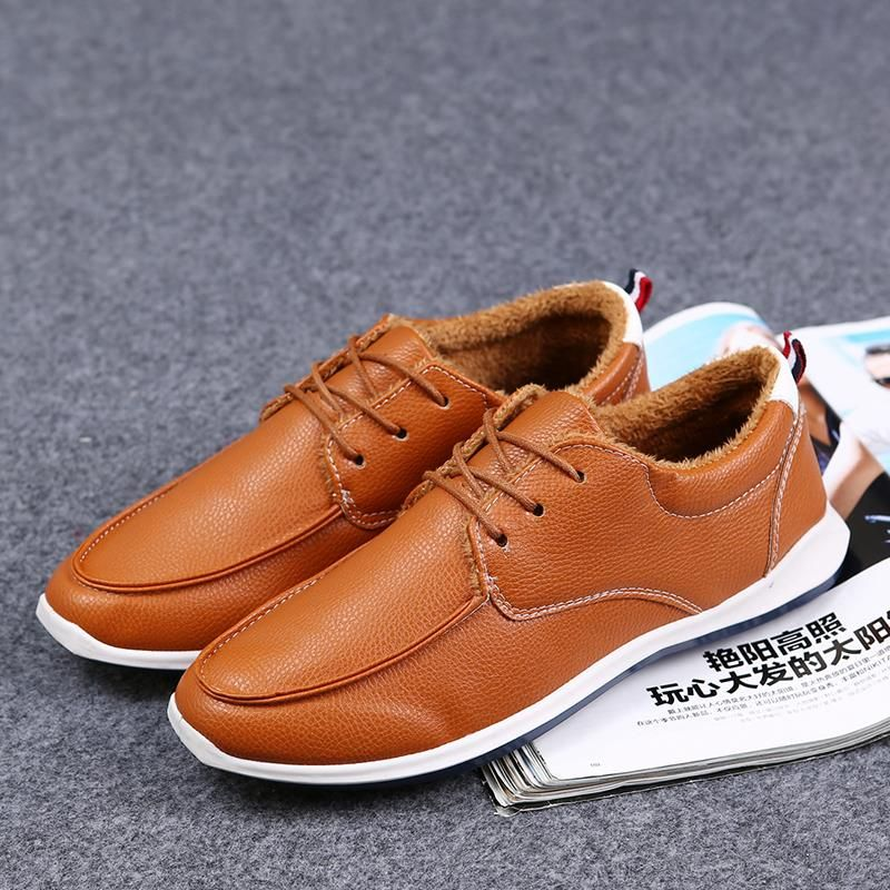 Winter New Men Shoes Fashion Chaussure Male Sapatilha Casual Scarpe Size 39 to 44 Black Dark Blue Brown