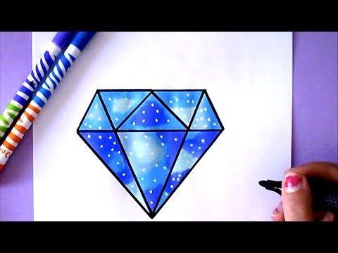 Wie Zeichnet Man Einen Diamanten Tutorial Youtube Zeichnen