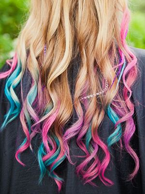 Hair Chalk Update Your Hair Color Without Commitment Hair Styles Unicorn Hair Color Candy Hair