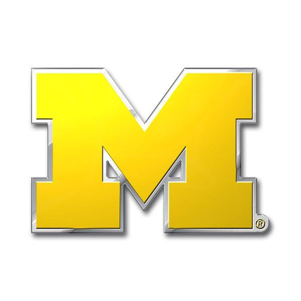 Officially Licensed Auto Emblems Made Out Of Light Weight Aluminum For Durability Emblem Is Embossed And Printe Car Emblem Michigan Wolverines Wolverines