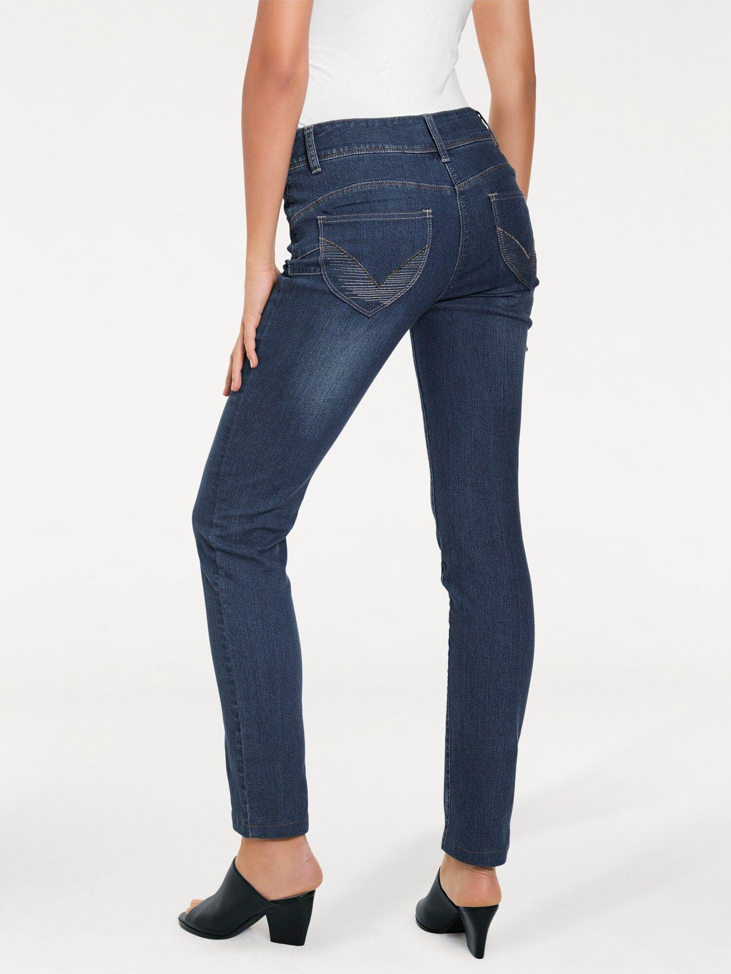 Heine Bodyform Jeans Damen, Blue Denim, Größe 3940
