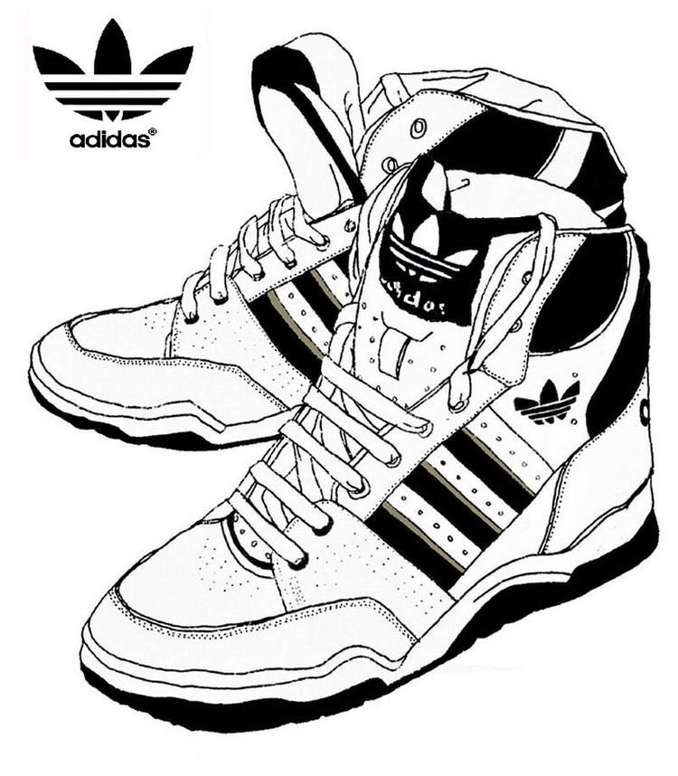 Adidas Coloring Page Shoes Shoes Drawing Shoes Adidas