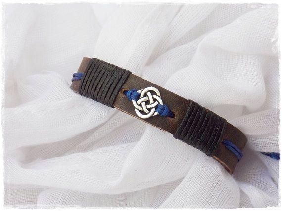 Celtic Wedding Bracelet Love Knot Leather by ChrisOsCreations
