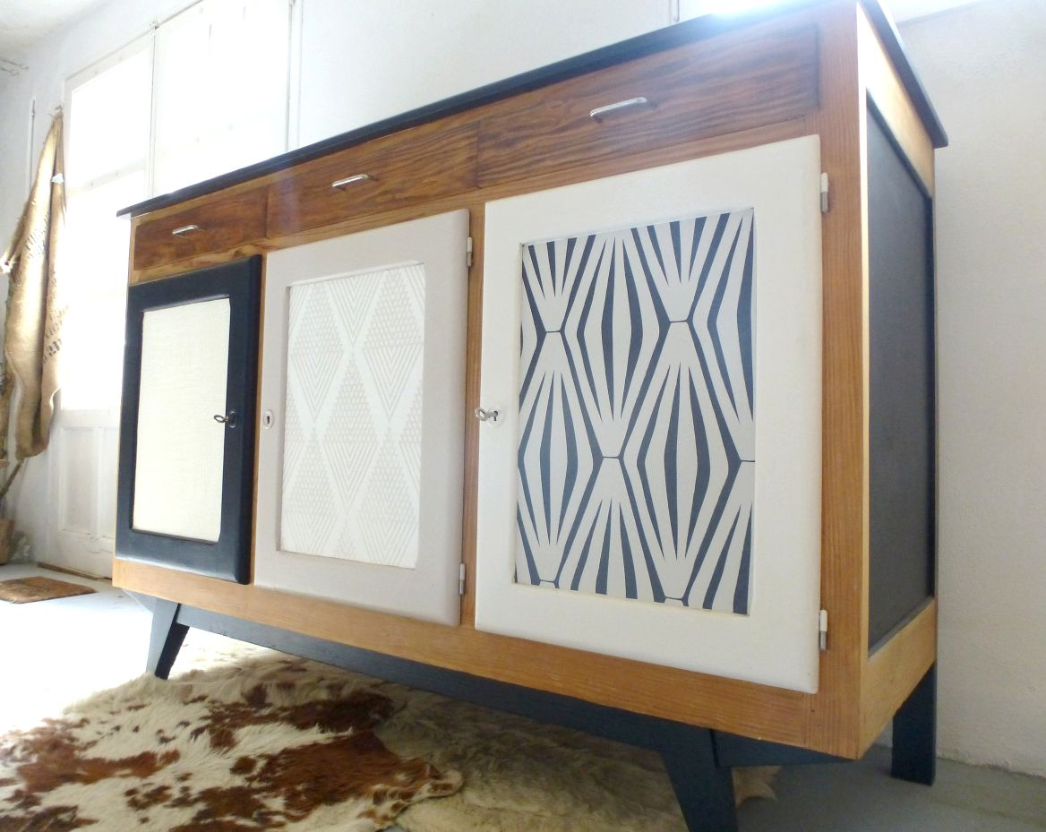 Pinterest meubles peints meuble en bleu canard with for Meuble non peint