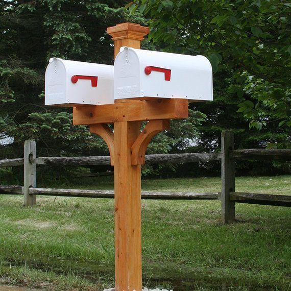 Double 4x4 Mailbox Post Briefkasten Kasten Brief